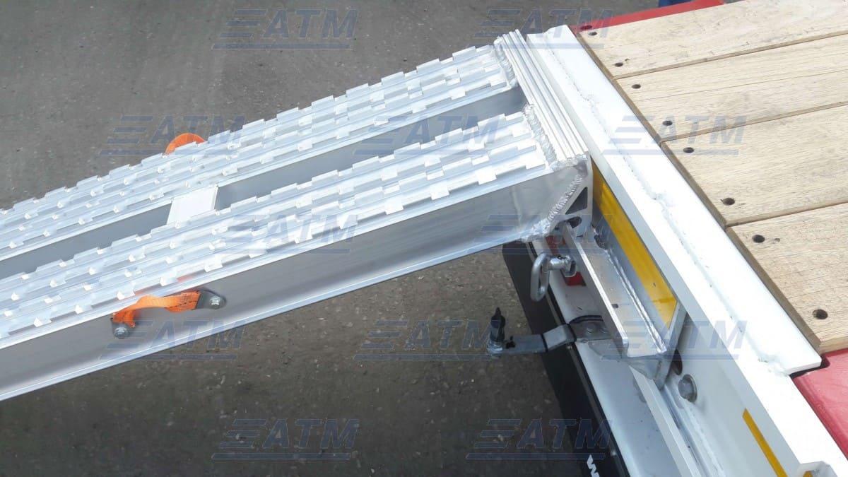 Алюминиевые трапы, аппарели для заезда техники